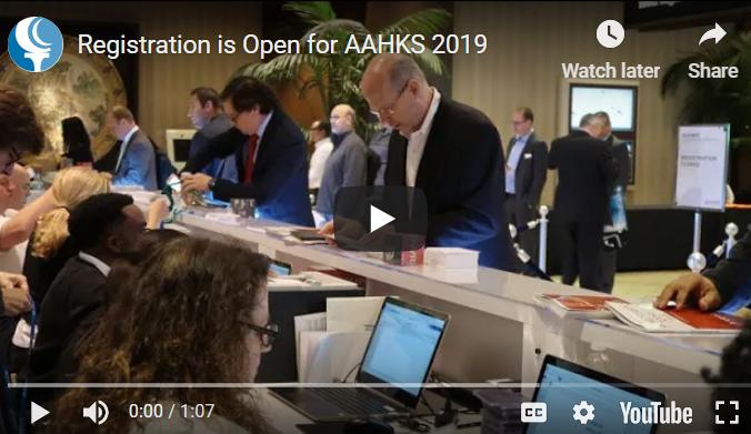 AAHKS 2019 Register Video